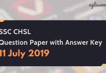SSC CHSL answer key 11 july 2019
