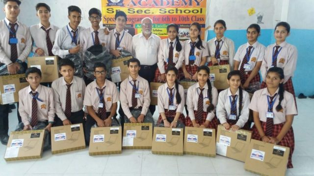 Students with their laptops
