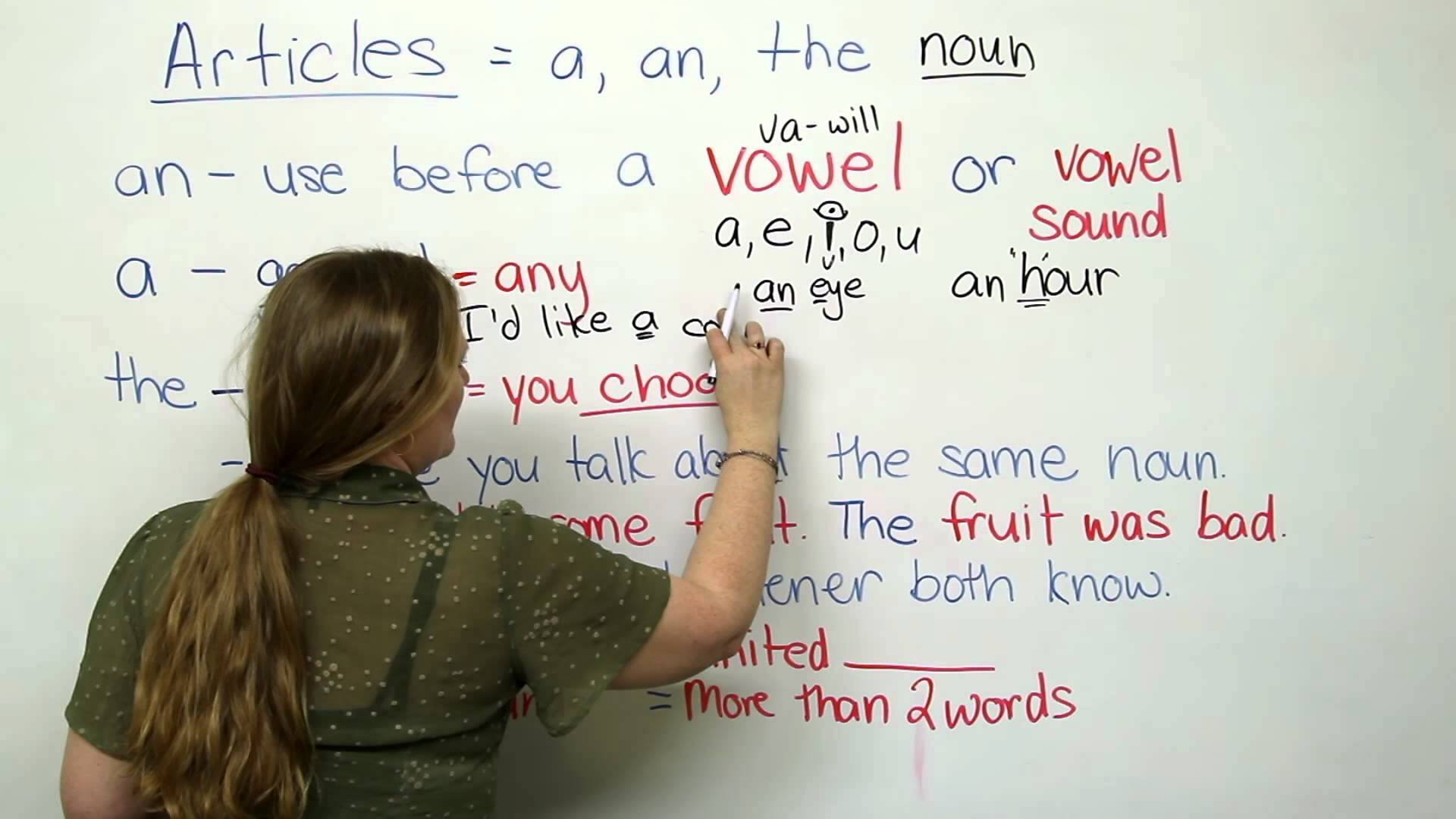 Improve Your Grammar Articles In English Grammar Rules