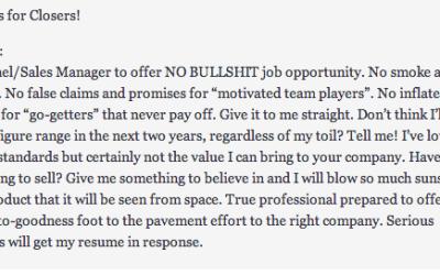 Reverse Job Post Got Her a Job