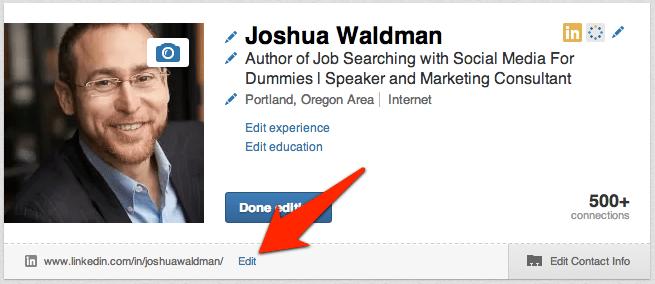 edit button next to URL-Joshua Waldman2