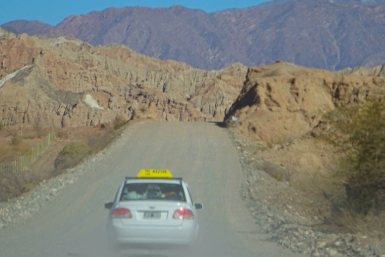 The section of Ruta 40 between Cafayate and Cachi is a gravelly dirt track