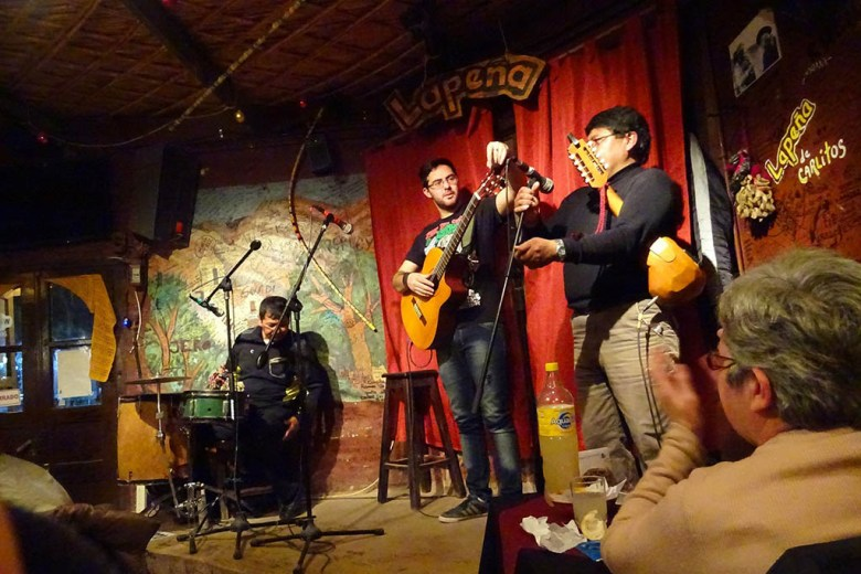 We enjoyed live music and bowls of locro (Argentine stew) at La Peña, Tilcara