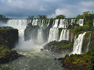 Approaching Iguassu Falls Argentina