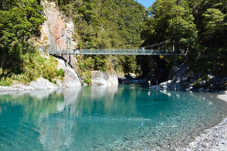 The Blue Pools at Haast Pass are found along one of the most beautiful drives on the South Island