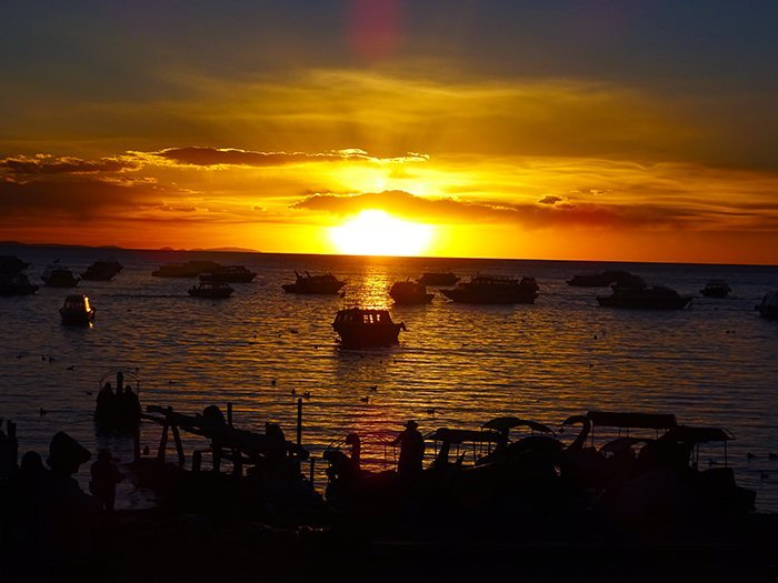 Lake Titicaca sunset - Copacabana - Bolivia