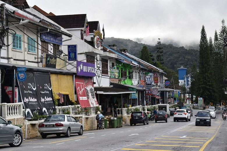 The main street of Tanah Rata, Cameron Highlands