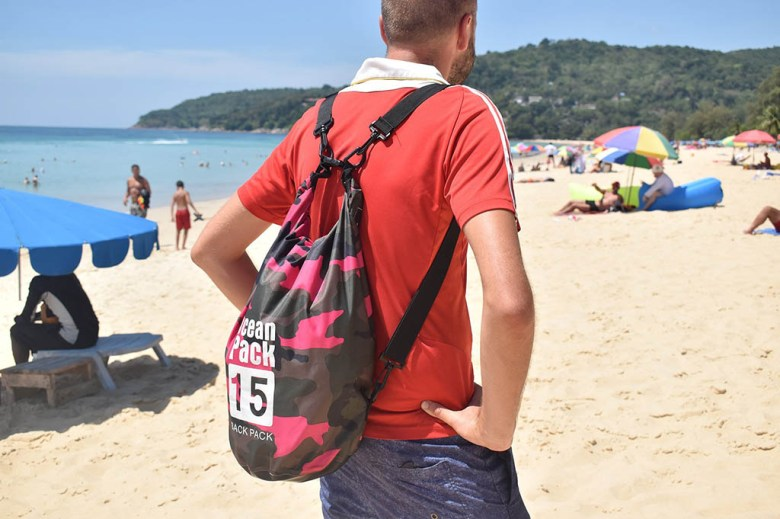 Ocean Packs keep our electronics dry and double up as a lightweight day bag