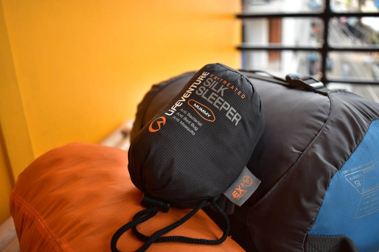 Our silk sleeping bag liners provided an emergency layer of warmth in times of need