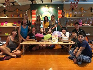 Thai cooking class group