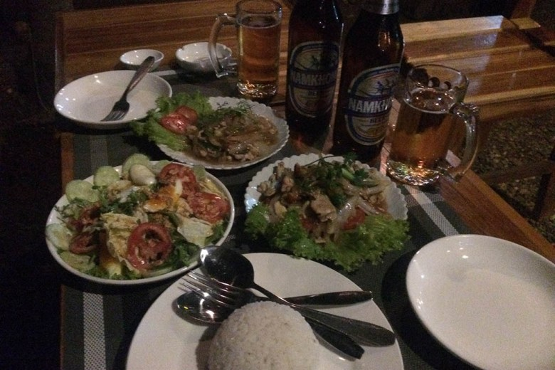Our birthday celebration meal at Lao Friend Bar, Luang Prabang