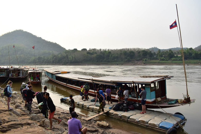 The slow boat to Luang Prabang takes two days, with an overnight stop at Pakbeng