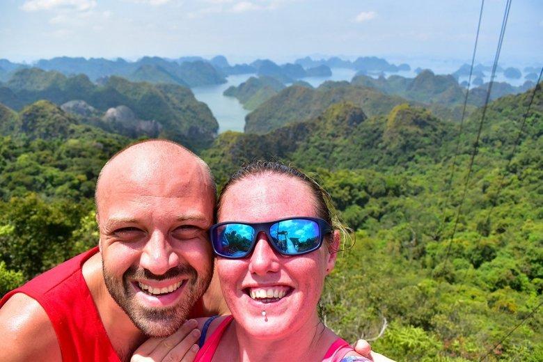 Alex and Lisa at Halong Bay