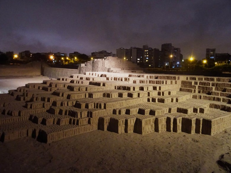 A guided tour of Huaca Pucllana at night is a must for your Lima itinerary
