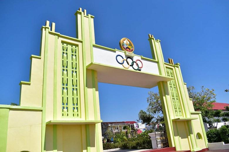 Old Stadium Olympic gateway Savannakhet