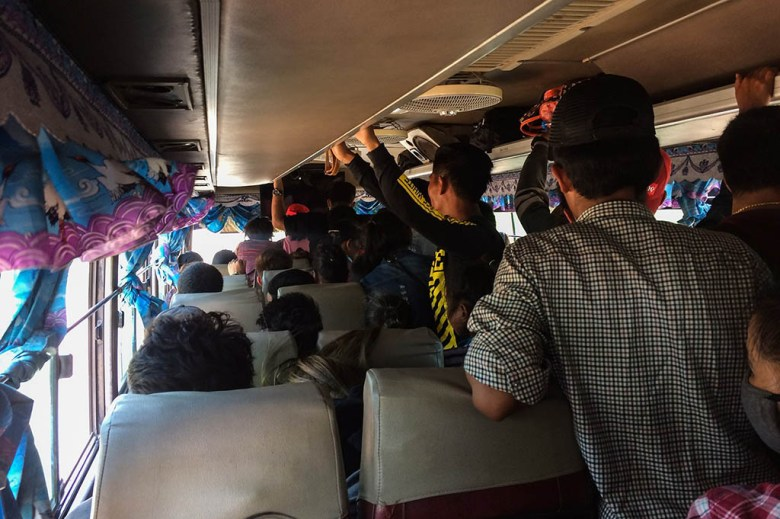 Savannakhet to Pakse local bus