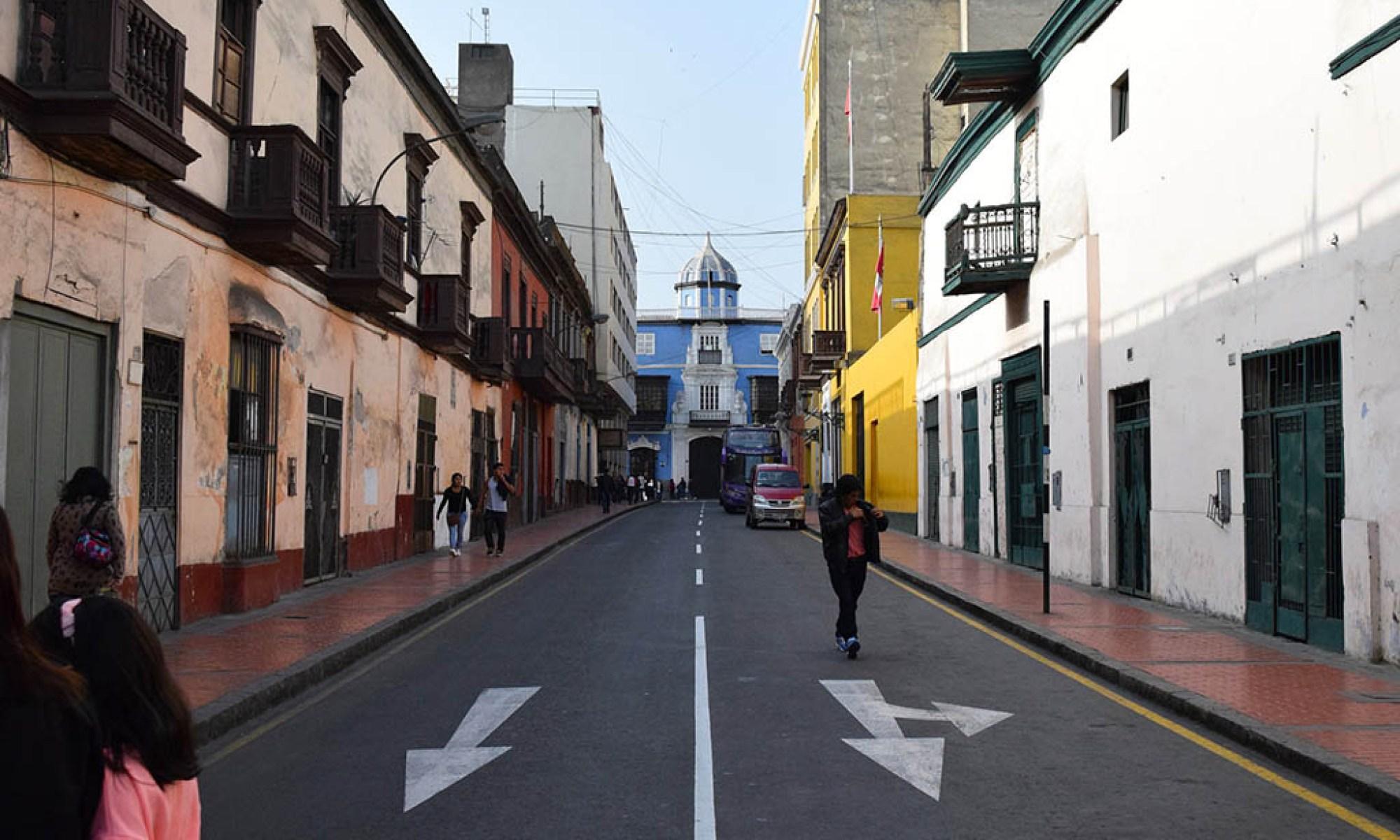 Streets of Centro Histórico Lima Peru