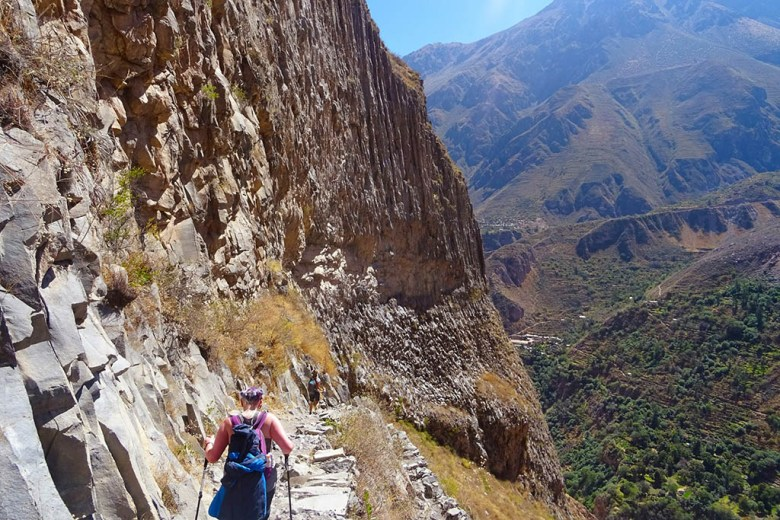Colca Canyon trek: the steep faces of the world's second-deepest canyon