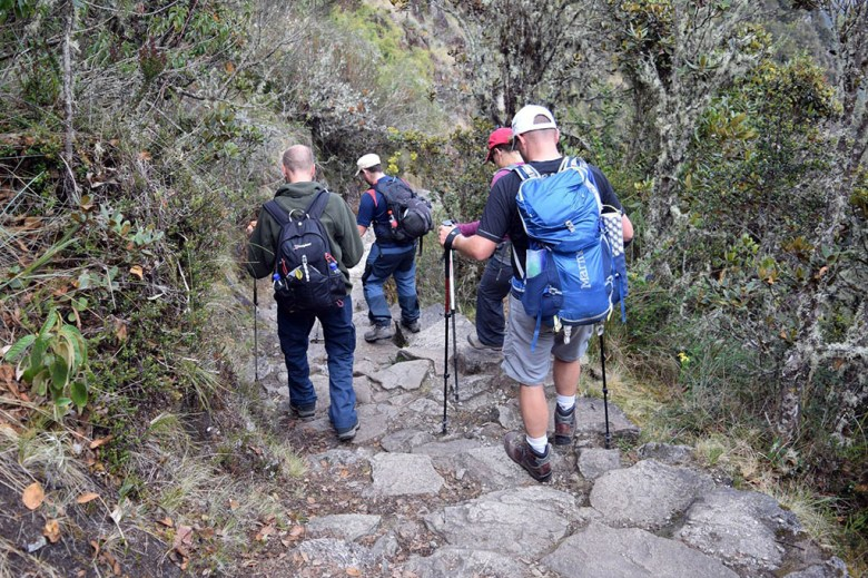 The 'Gringo Killer' on day two of the Inca Trail is a downhill trudge of over a thousand steps
