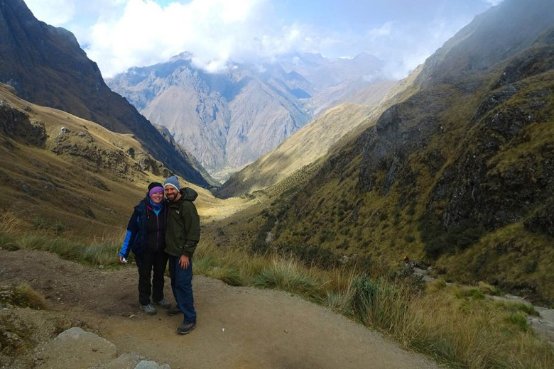 The highest point of the Inca Trail reaches 4,200m above sea level