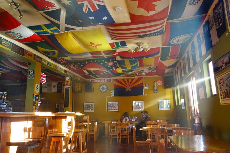 Norton Rat's Tavern on Plaza de Armas is a great place to relax with a beer