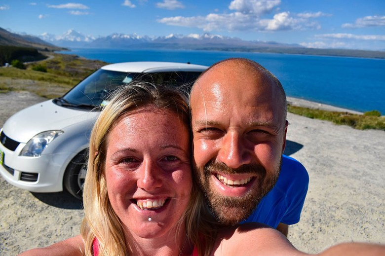 Career Gappers: me and Lisa during our New Zealand South Island roadtrip on our travel career break