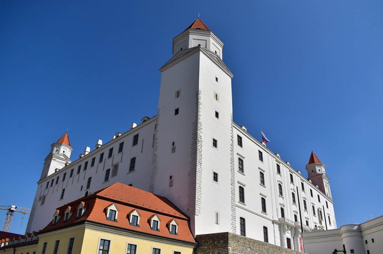 Bratislava Castle up close: it's not your typical stony fortress