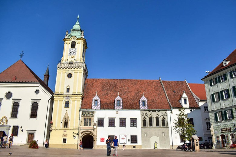Bratislava's Old Town Hall is at the heart of the city's historic centre