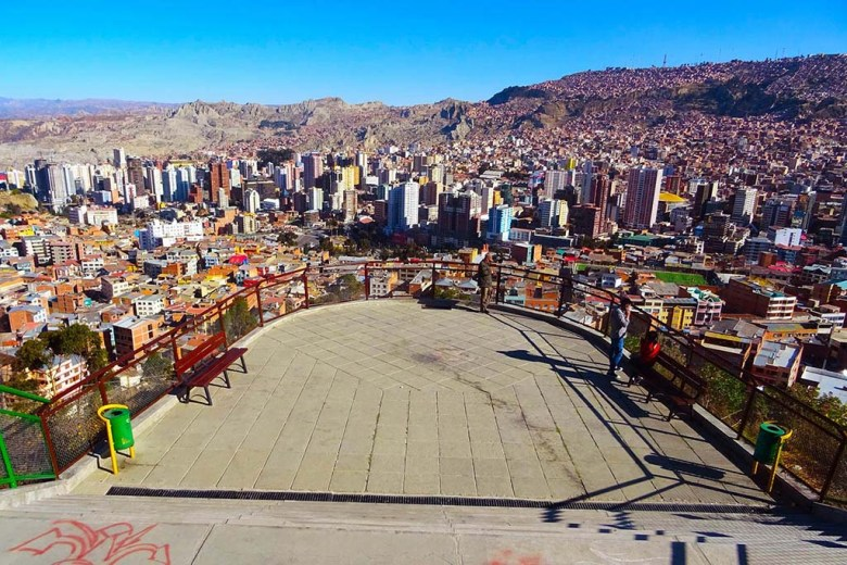 Things to do in La Paz: see the city panorama from Mirador Killi Killi