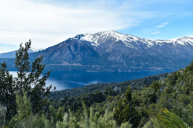 The view approaching Lago Gutiérrez near Bariloche, Argentine Patagonia