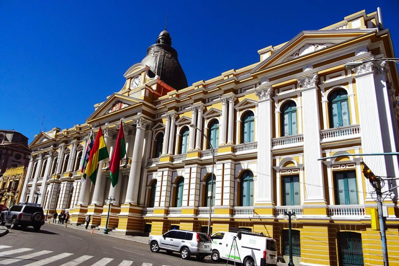 The Presidential Palace is one of the most recognisable buildings in La Paz