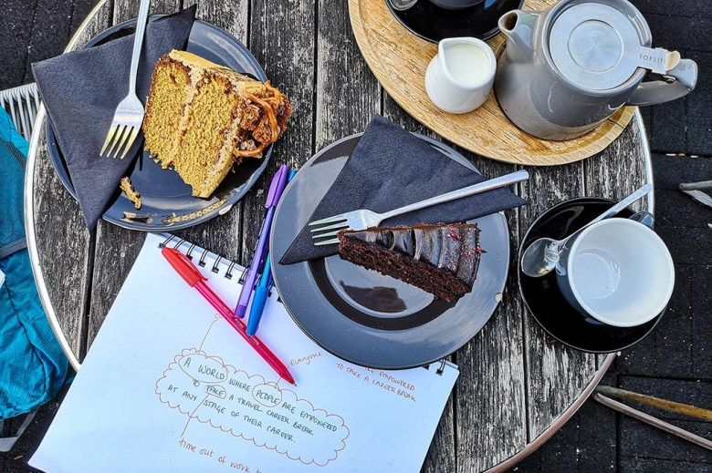 Tea, cakes and notes on our Career Gappers strategy away day
