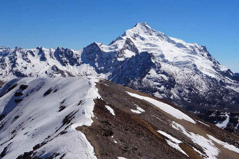 Much of the typical backpacker route through Bolivia is at high altitude along the Andes mountains