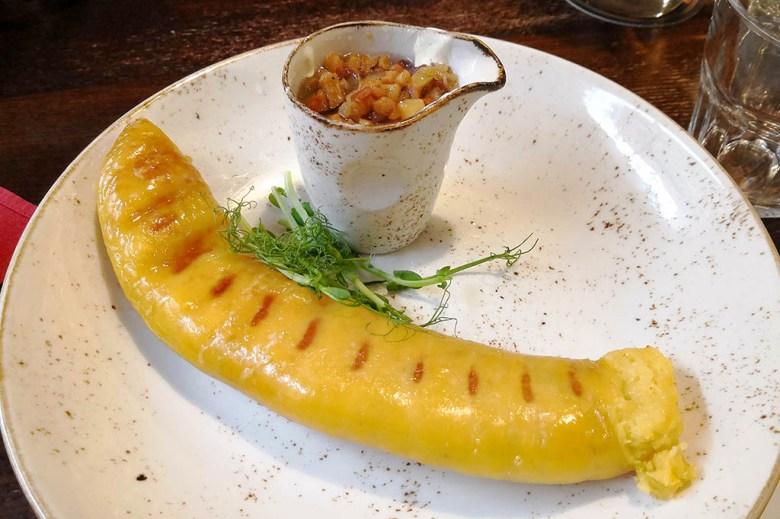 Etno Dvaras on Pilies Street is a great place to try bulviniai vėdarai, Lithuanian potato sausage