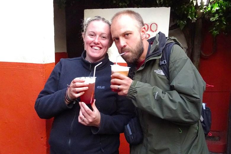 We tried Chile's famous terremoto drink in the legendary Santiago bar La Piojera