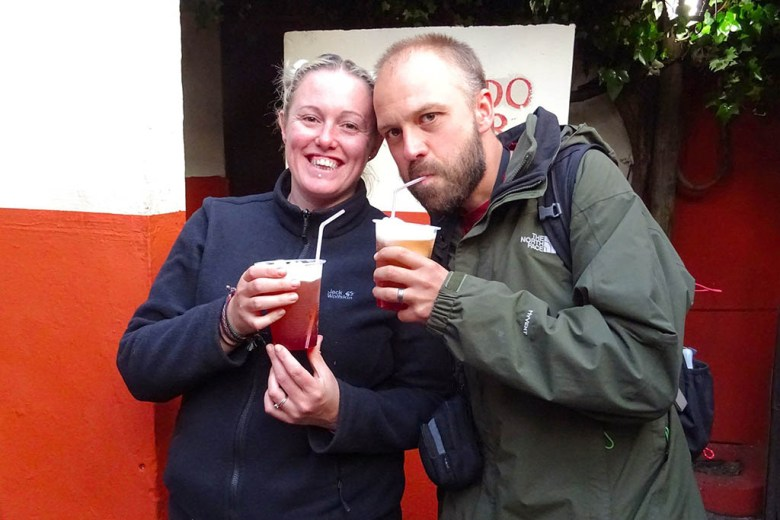 We tried Chile's famous terremoto drink in the legendary Santiago bar La Piojera
