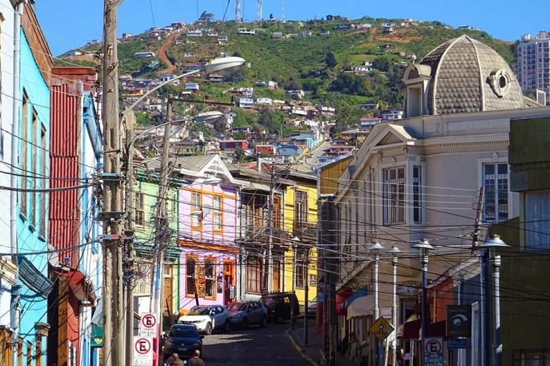 Valparaíso is spread across 43 different hills, each with its own neighbourhood and identity