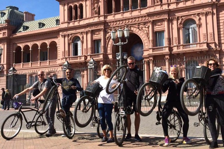 A bike tour is one of the coolest things to do in Buenos Aires