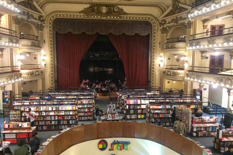 El Ateneo Grand Splendid is a bookstore built inside a century-old theatre