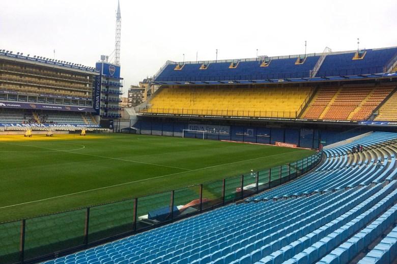 Inside La Bombonera, the famous home stadium of Boca Juniors