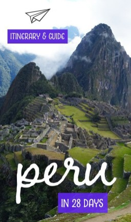 Discover Peru in 28 days. Capture all of the highlights including Machu Picchu, the Colcan Canyon and Amazon Rainforest. The guide includes where to stay, what to see, what to eat and information on trip costs. #travelsouthamerica #southamericatravel #peru #peruitinerary #travelguide #traveldestinations #travelplanning