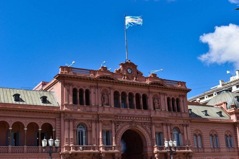Casa Rosada, the 'Pink House', is the executive mansion of the president of Argentina