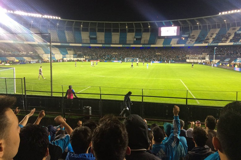 We went to see Racing Club vs Temperley in Buenos Aires