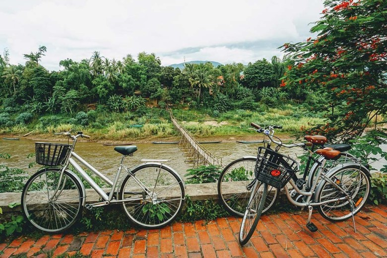 Hiring a bicycle is a great way to get around Luang Prabang and see the sights