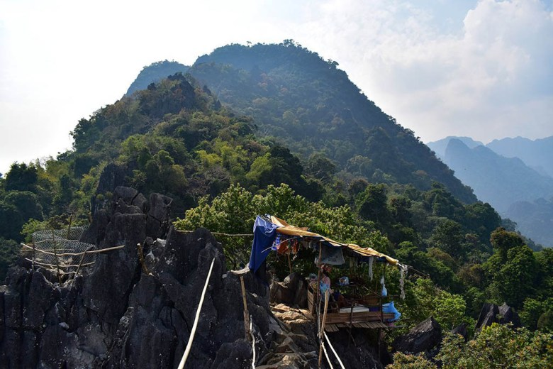 The lower viewpoint on the Pha Ngeun hiking trail, Vang Vieng