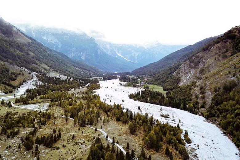 Valbona to Theth hiking trail Albania