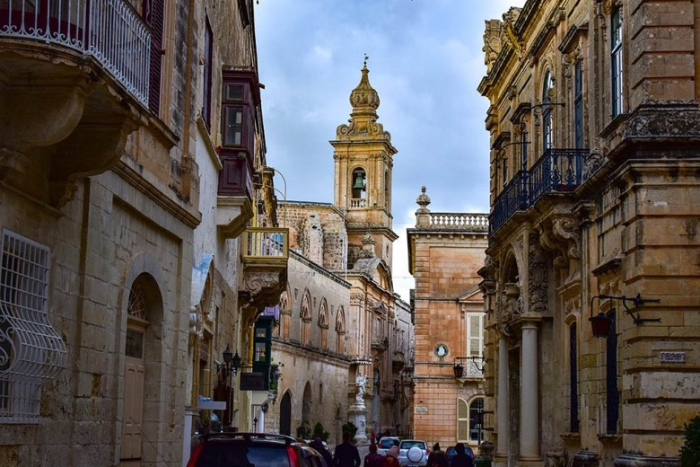 The walled city of Mdina, population less than 300, was once Malta's capital