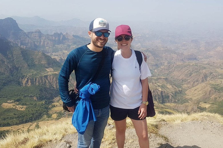 Sarah and Spencer at the Simien Mountains in Ethiopia on a recent trip