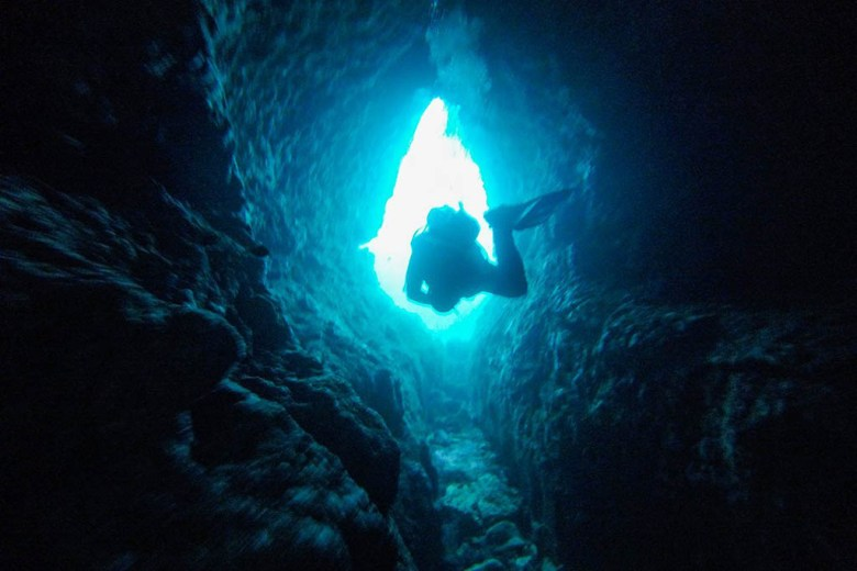 Light at the end of the tunnel: exploring a cavern in Sliema Bay