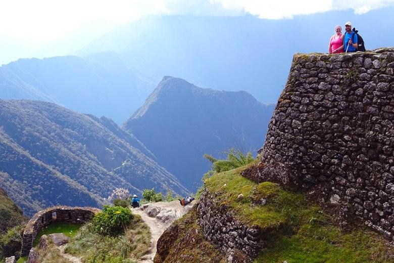 Exploring an Inca ruin site the night before we reached Machu Picchu